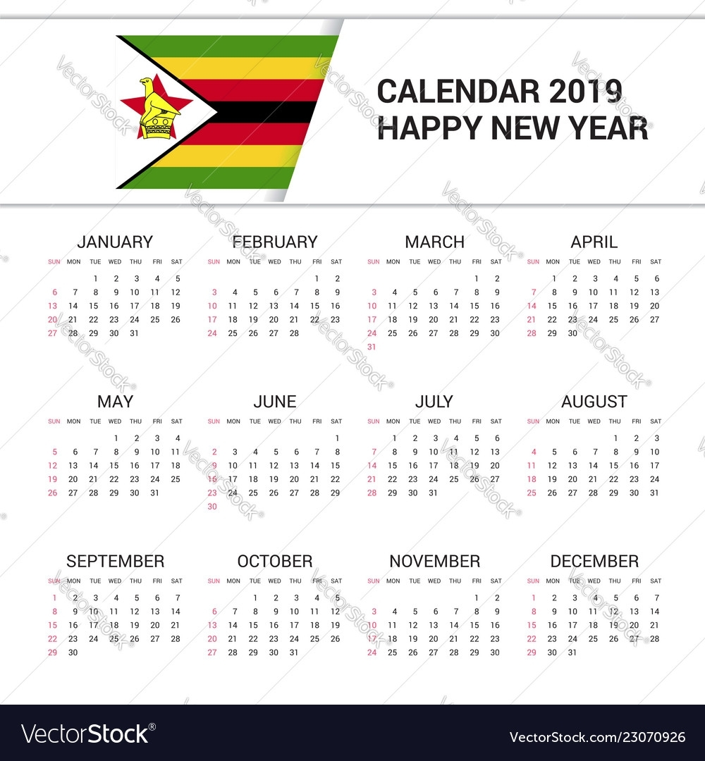 Take Zimbabwe Calendar With Holidays