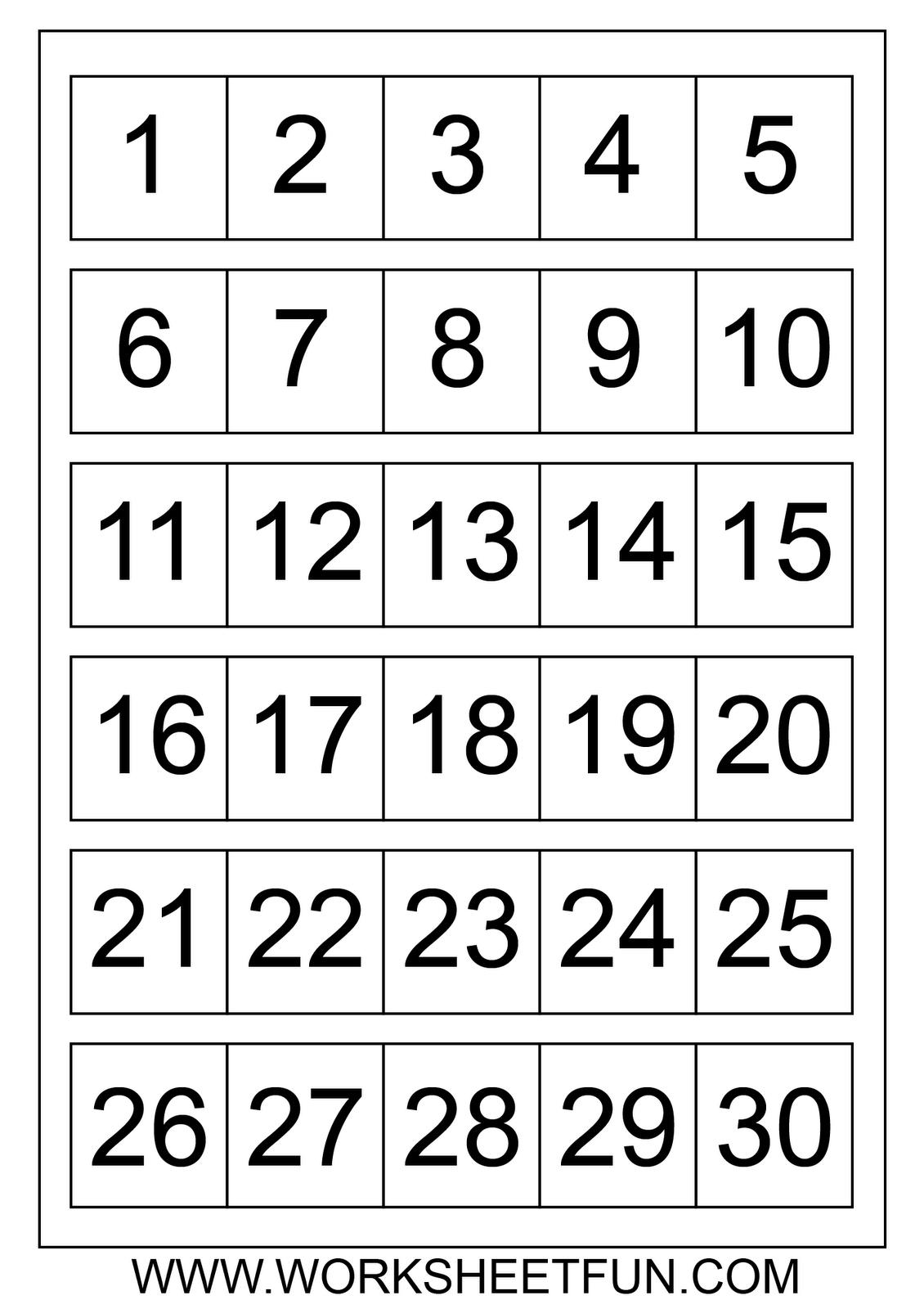 Catch 1 31 Numbers Pdf