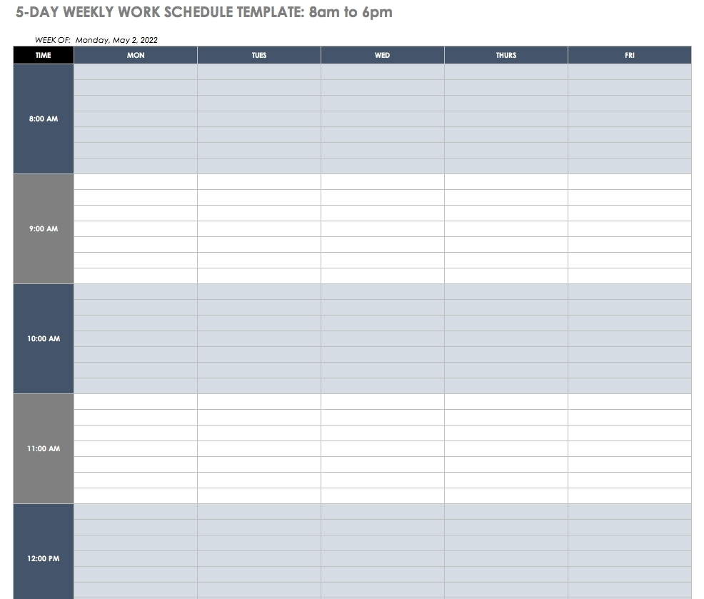 Catch 12 Hour Shift Work Schedules Template