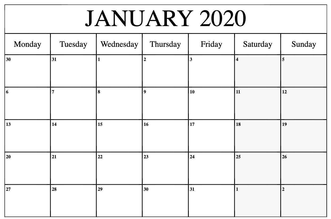 Catch 2021 Monday To Sunday Calendar Printable Free