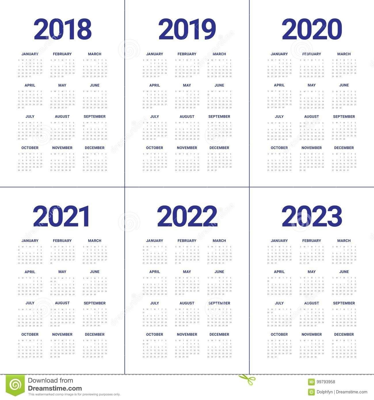 Catch 3 Year Printable Calendar 2021 2022 2023