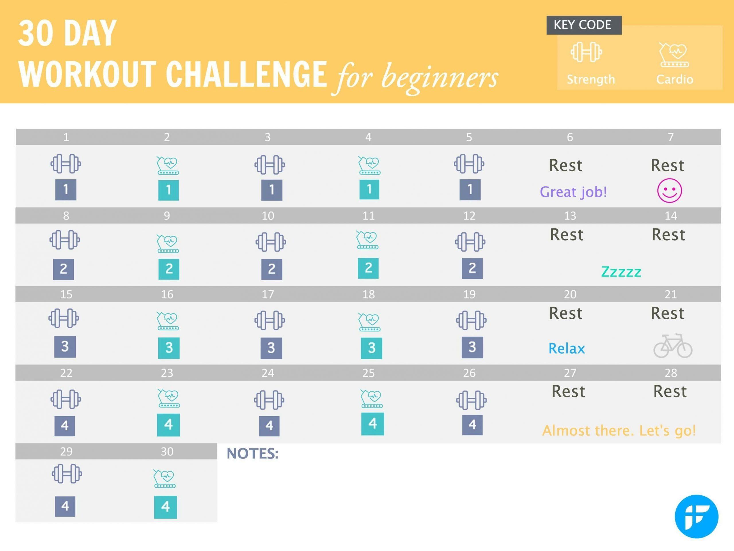 Catch 30 Day Calendar Template