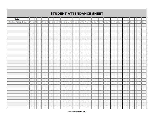 Catch Attendance Calendars Free Printable