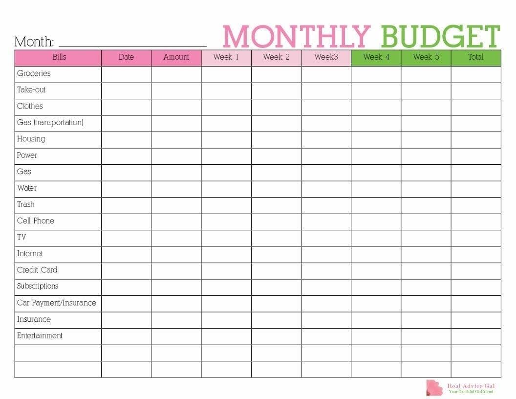 Catch Blank Monthly Bills Calendar