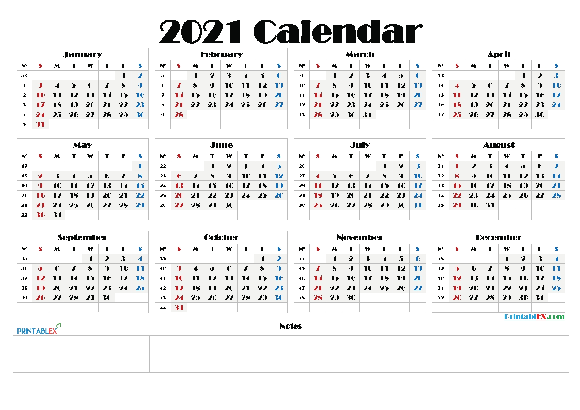 Catch Excel Calendar 2021 With Week Numbers