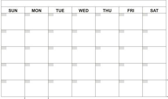 Catch Free 30 Day Calendar Printable