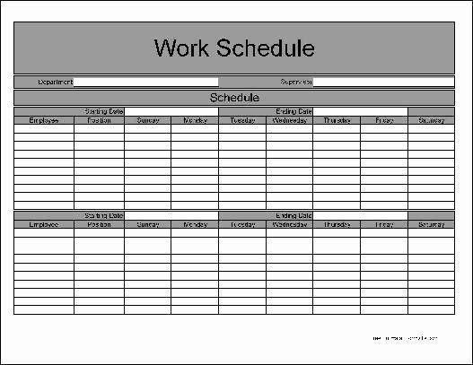 Catch Free Bi Weekly Editable Schedules