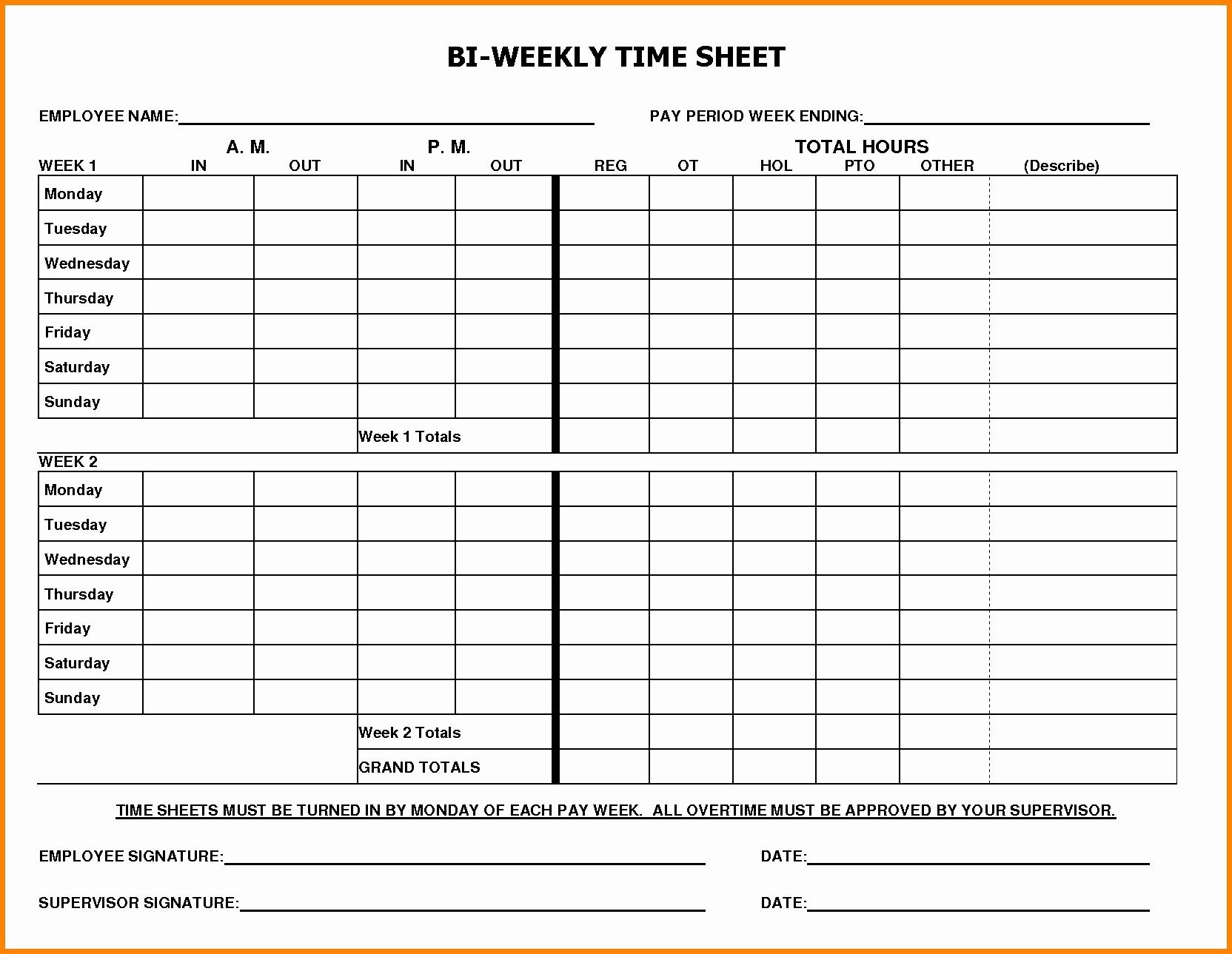 Catch Free Bi-Weekly Editable Schedules