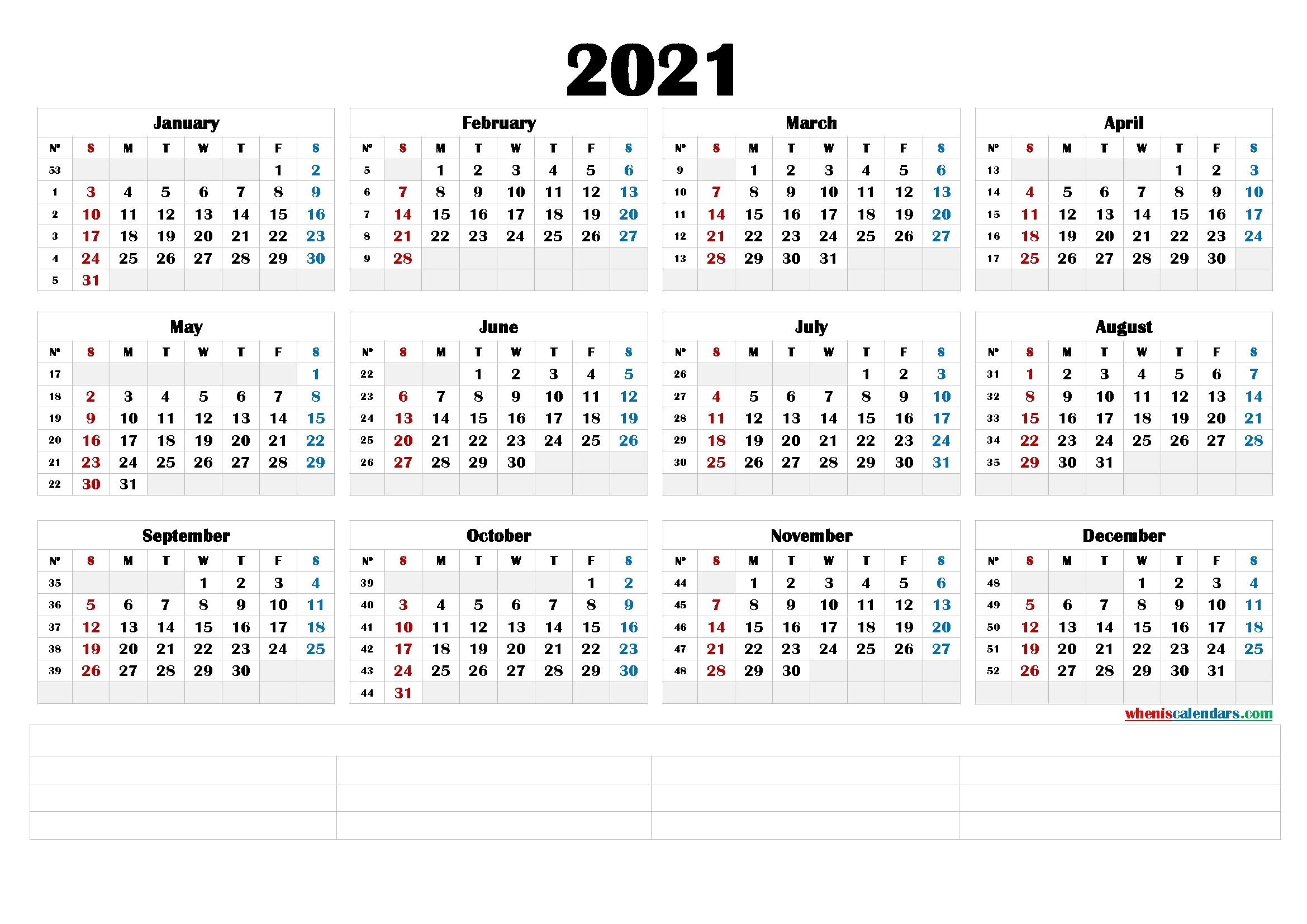 Catch Free Printable Calendar 2021 Monthly No Download