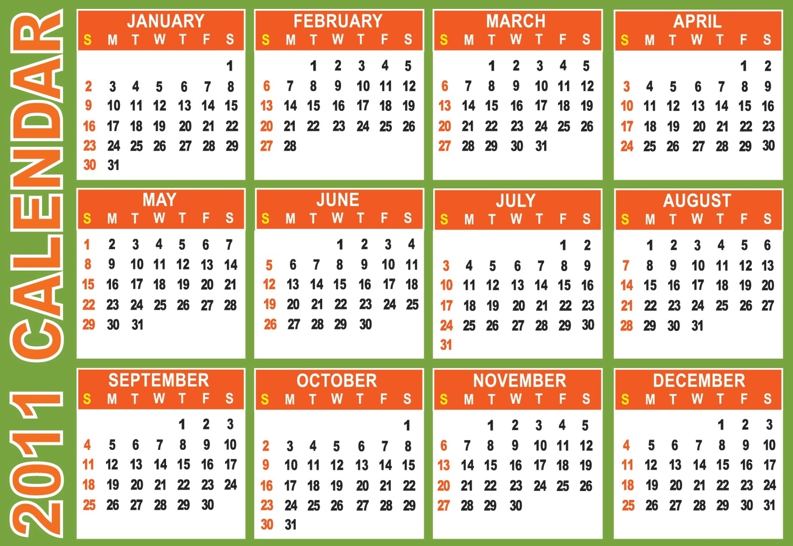 Catch Free Printable Pocket Calendars
