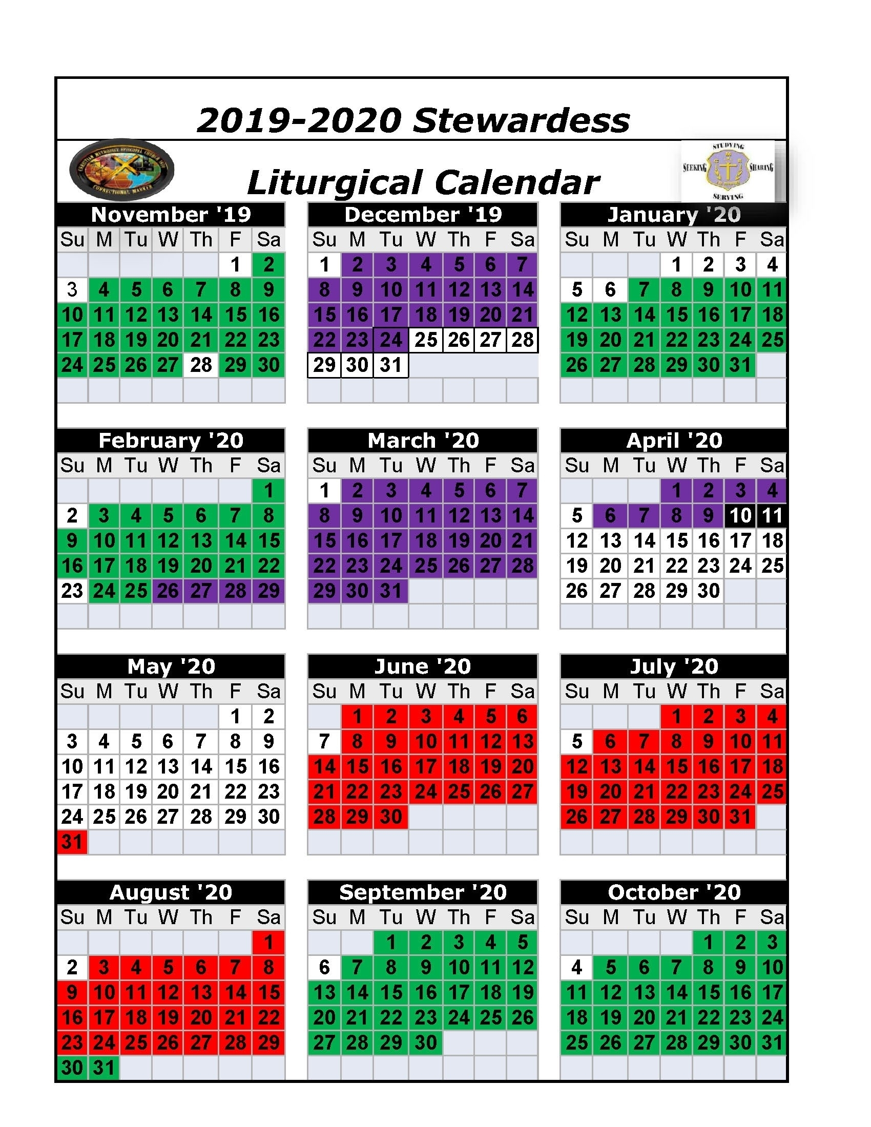 Catch Liturgical Calendar Colors 2021