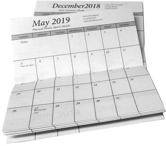 Catch Pocket Size Printable Calendar