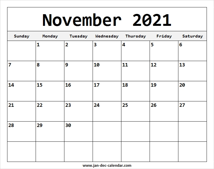 Catch Print Free November 2021 Calendar Without Downloading