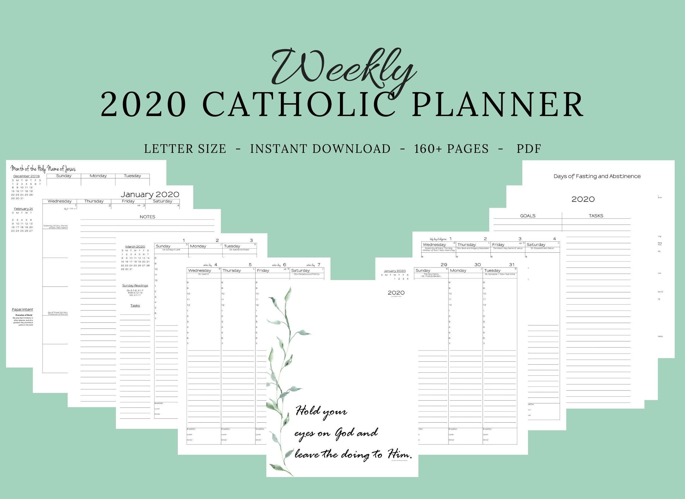 Catch Printable Catholic Liturgical Calendar 2021