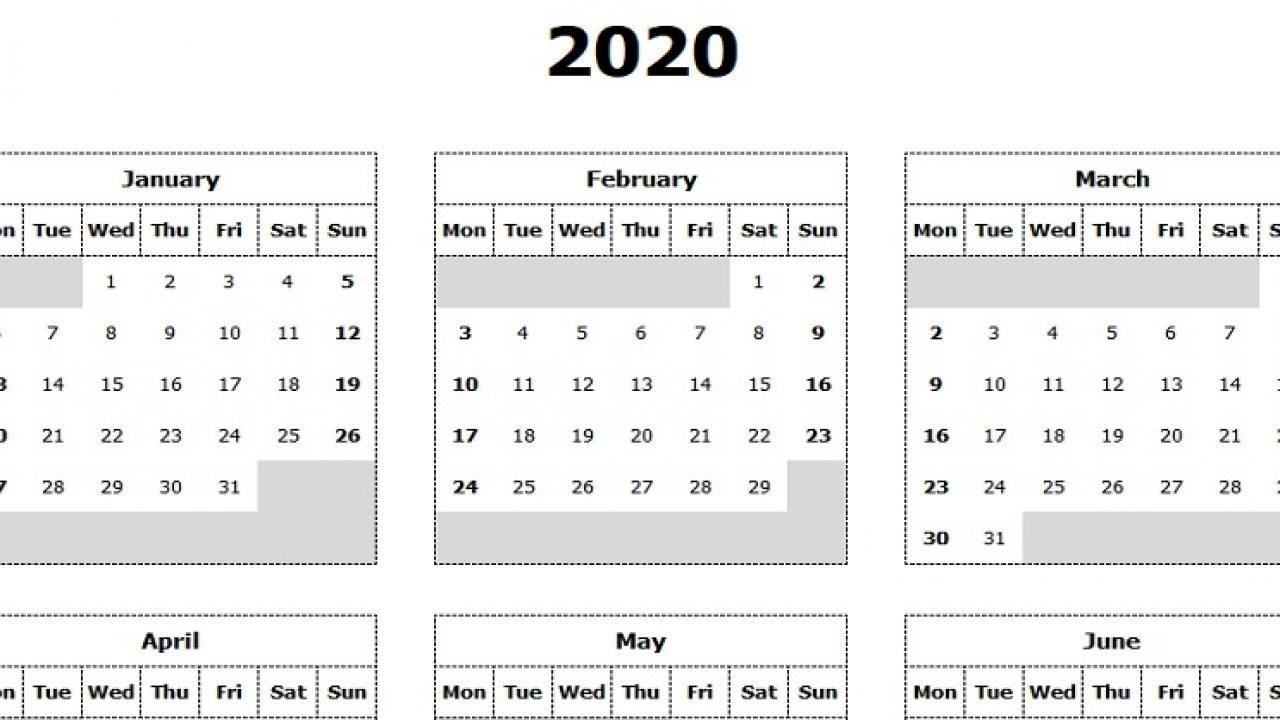 Catch Printable Monday Calendar Monday Start