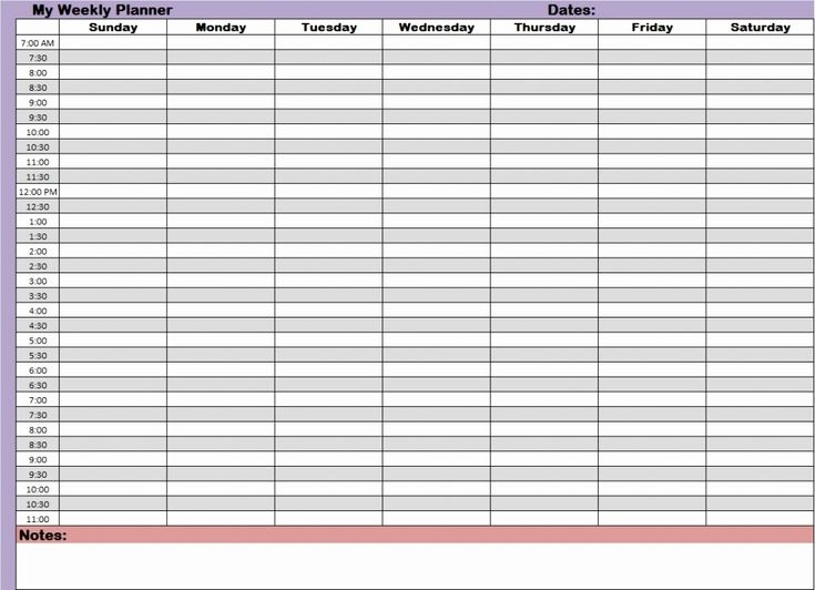 Catch Time Slot Excel Template