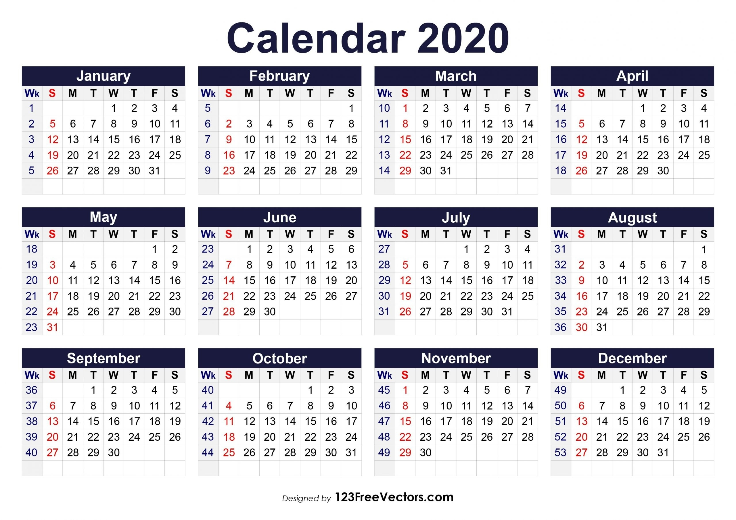 Catch Week Wise 2021 Calendar