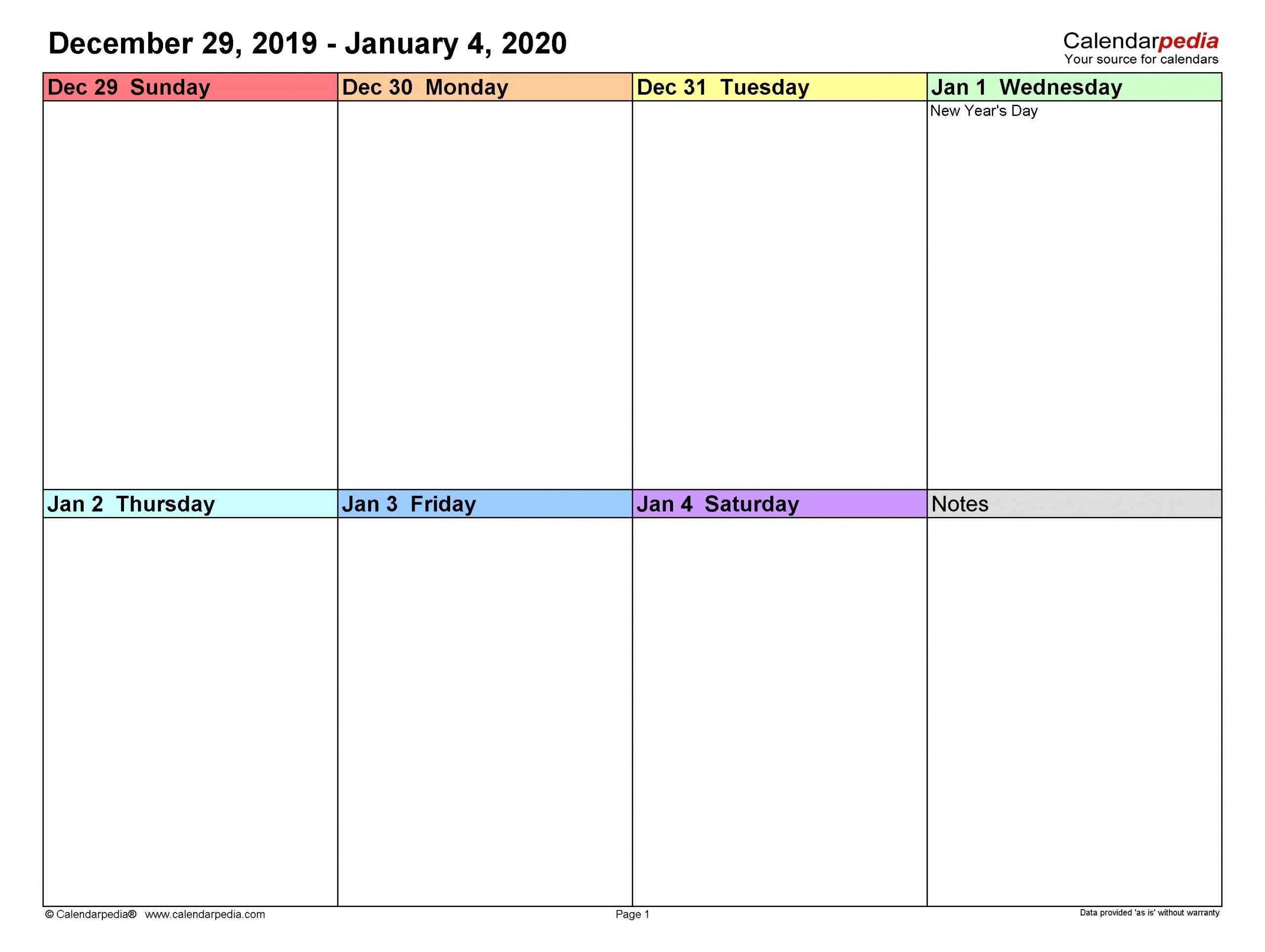 Catch Week Wise Calendar 2021 Excel