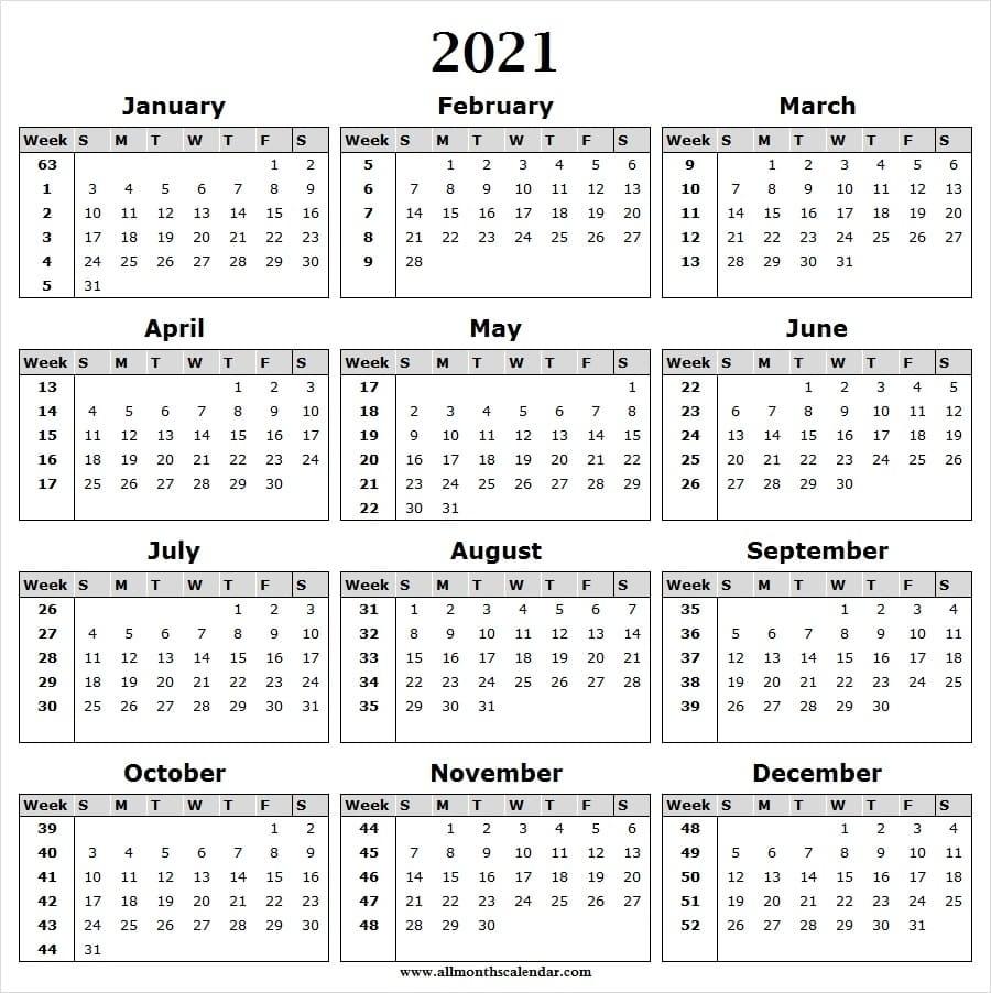 Catch Week Wise Calendar
