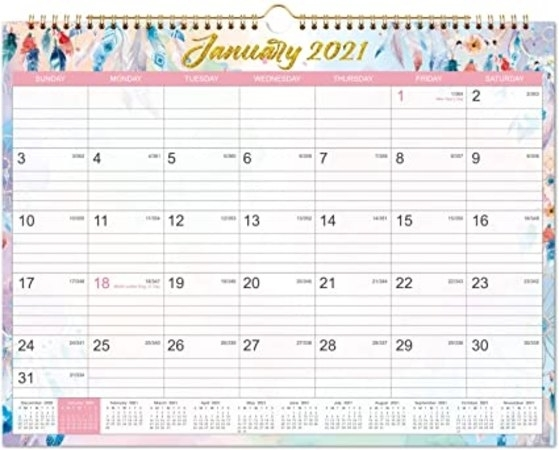 Collect 2021 Calendar To Writ On