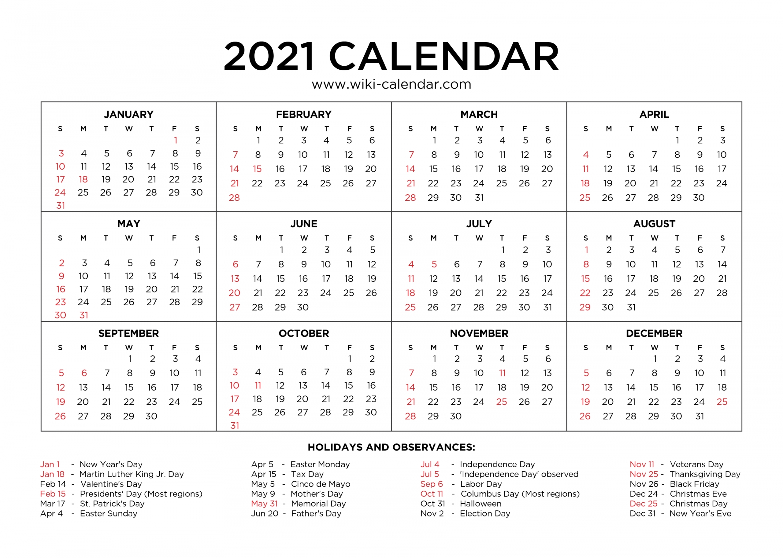 Collect 2021 Free Printable Weekly Calendar Template