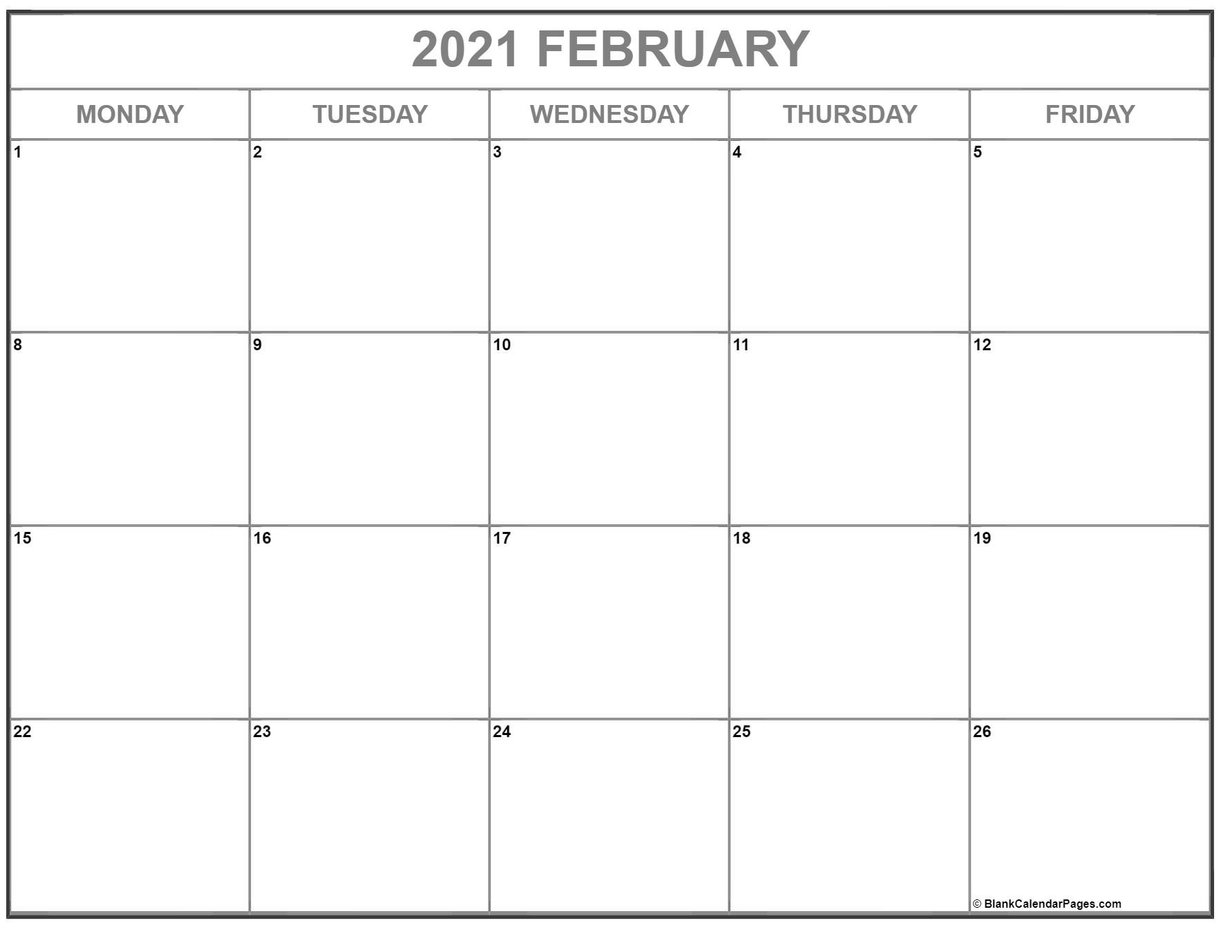 Collect 2021 Monday To Sunday Calendar Printable Free