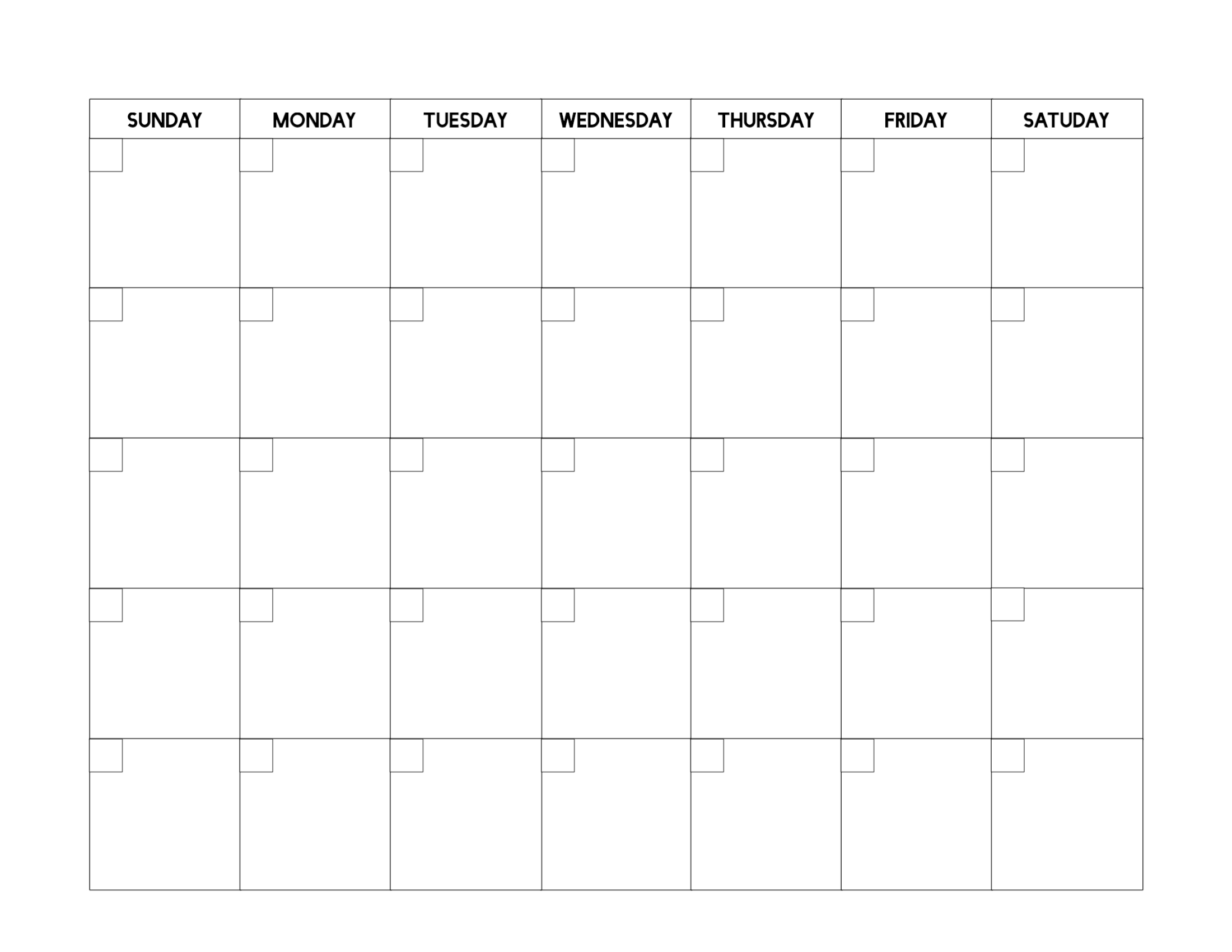 Collect 30 Day Calendar Print Out