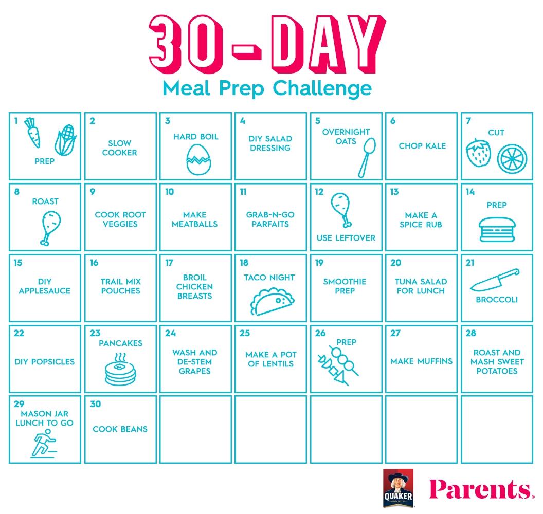 Collect 30 Day Calendar Template