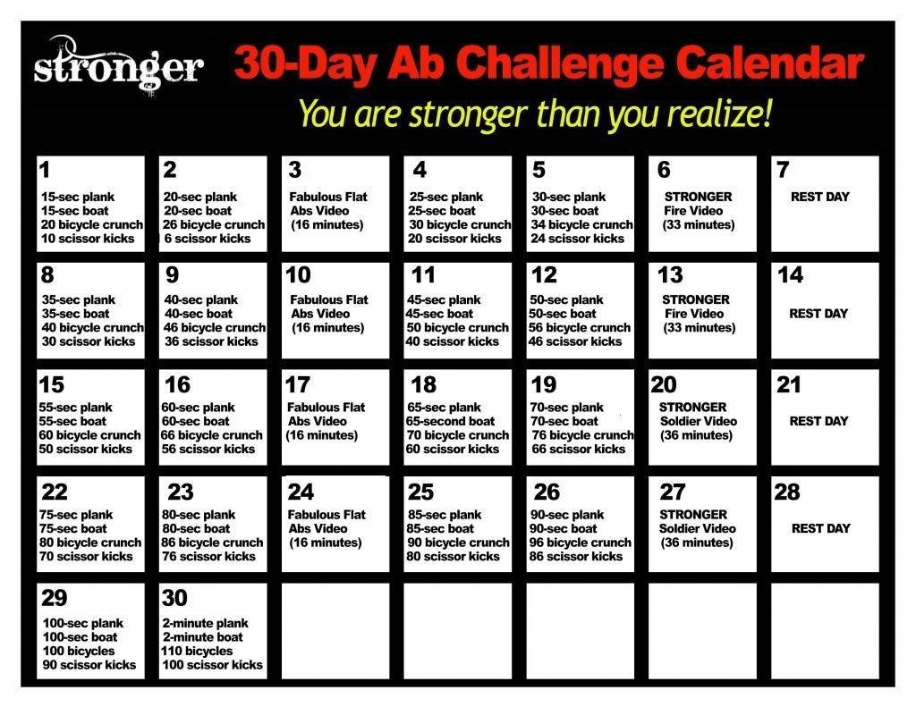 Collect 30 Day Calendar
