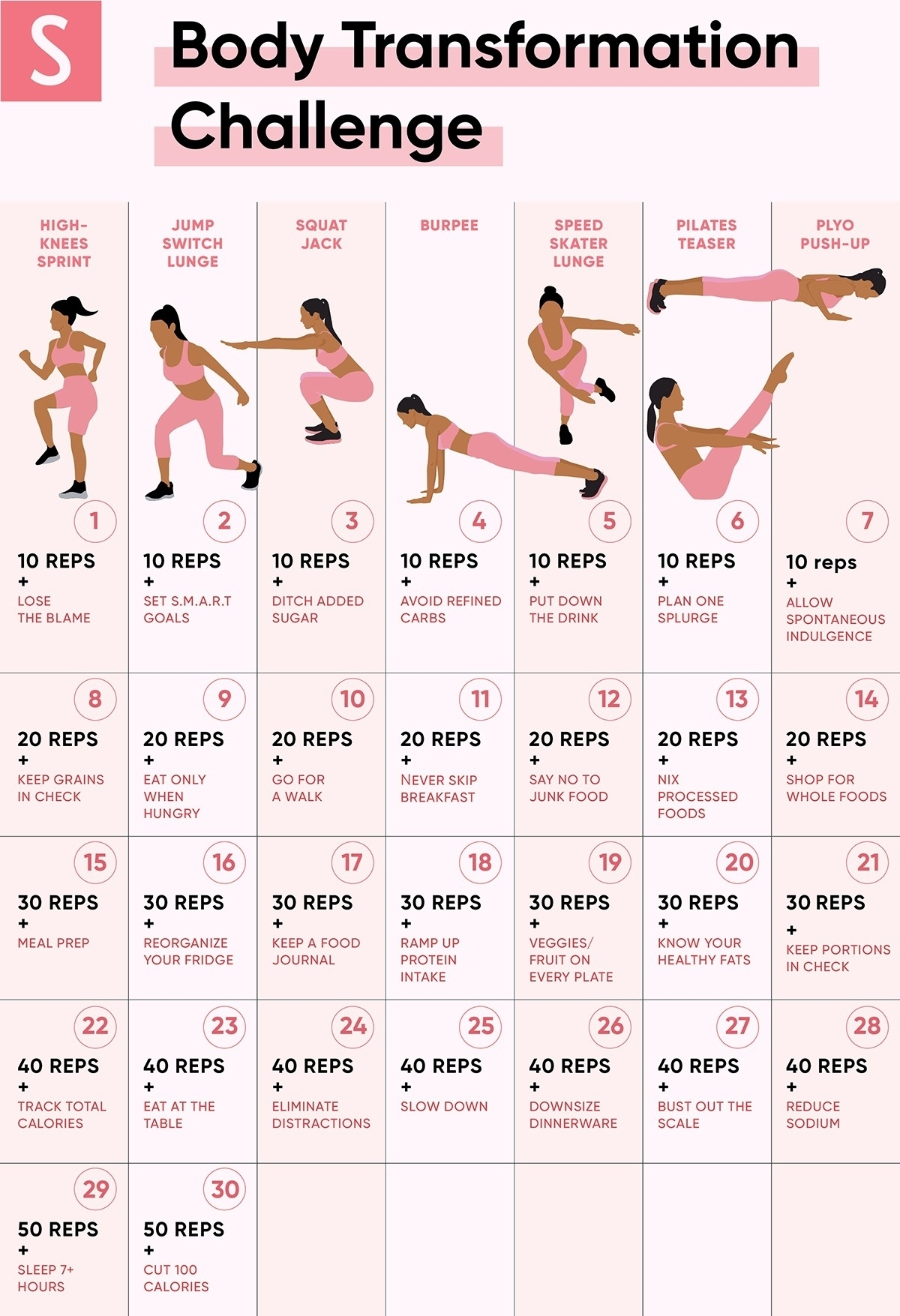Collect 30 Day Stretch Challenge Printable