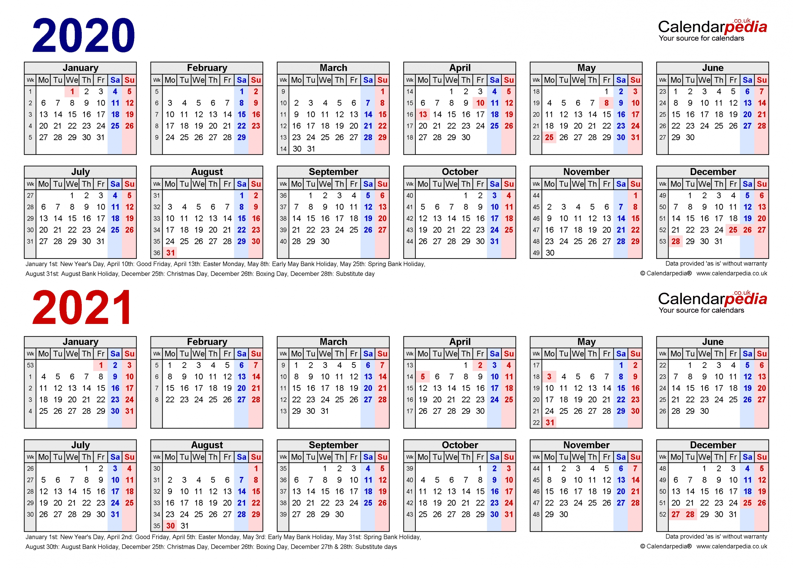 Collect Excel Calendar 2021 With Week Numbers
