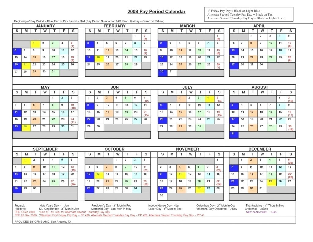 Collect Federal Payroll Calendar 2021