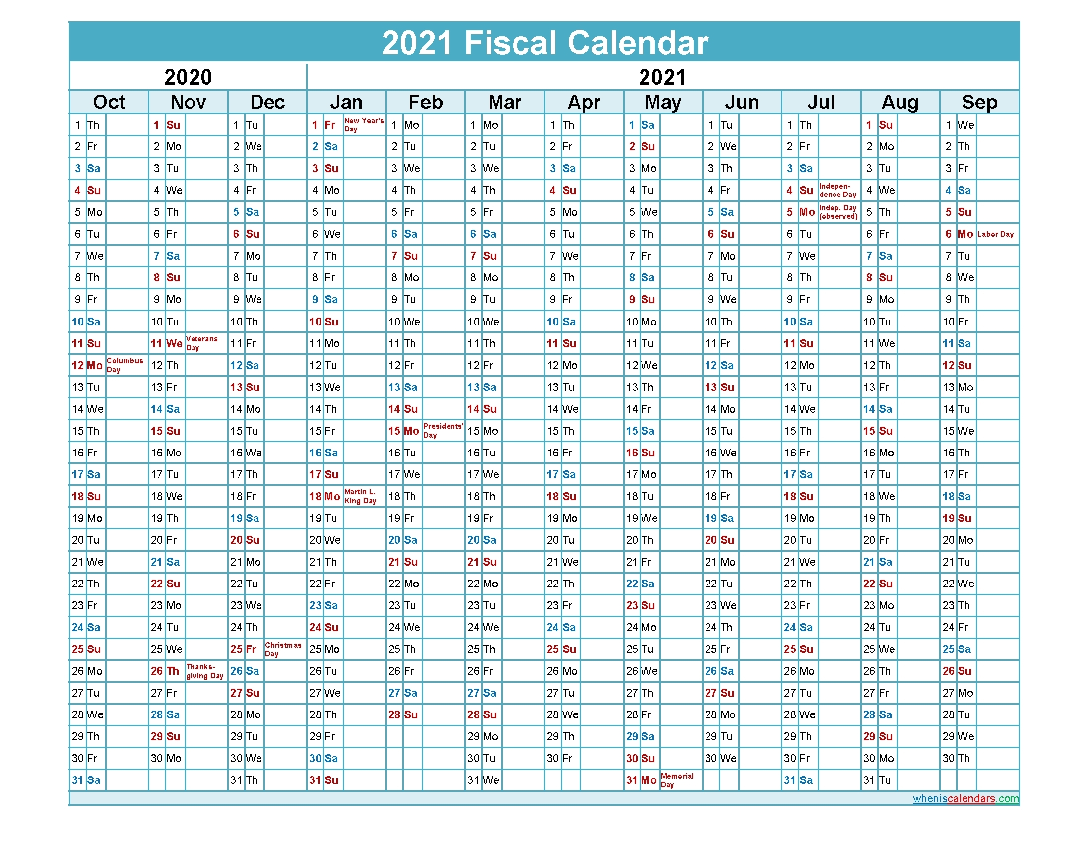 Collect Financial Year Week Numbers