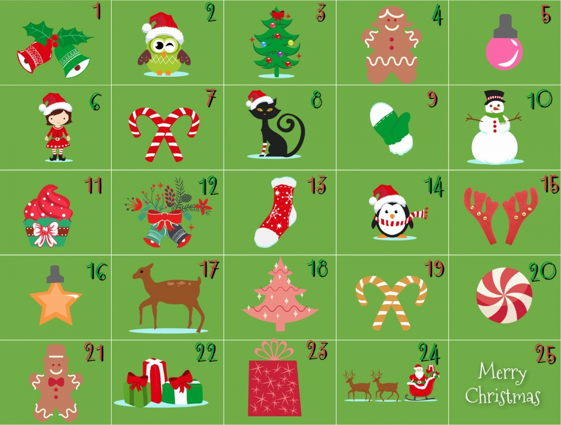 Collect Free Advent Calender