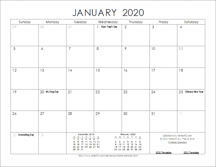 Collect Free Printable Calendars No Download