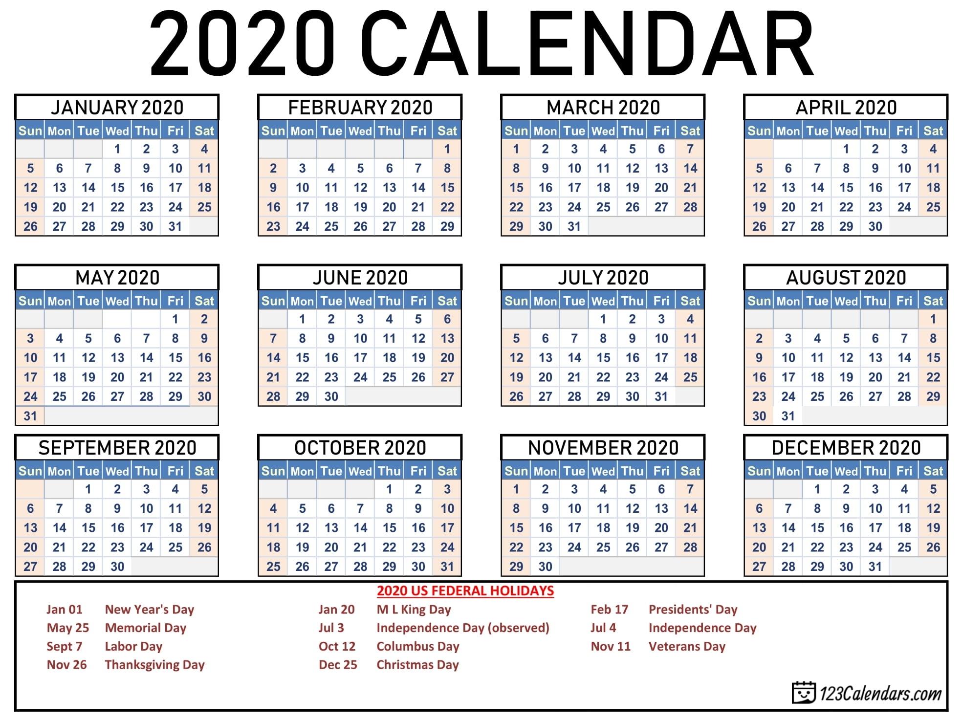 Collect Free Printable Pocket Calendars