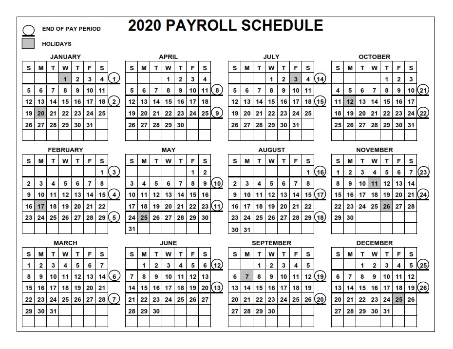 Collect Government Holiday And Pay Calendar 2021