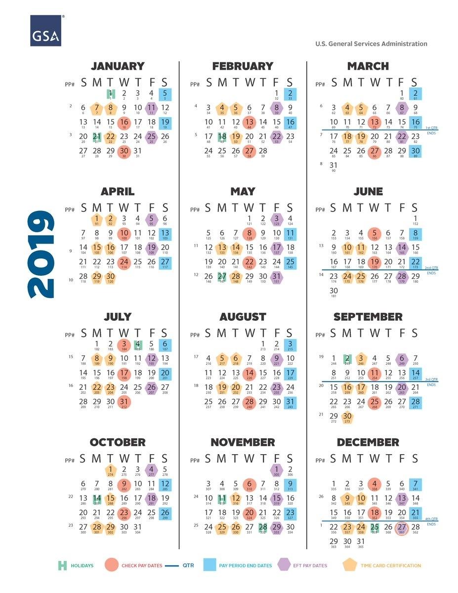 Collect Gsa Federal Government Payroll Calendar 2021