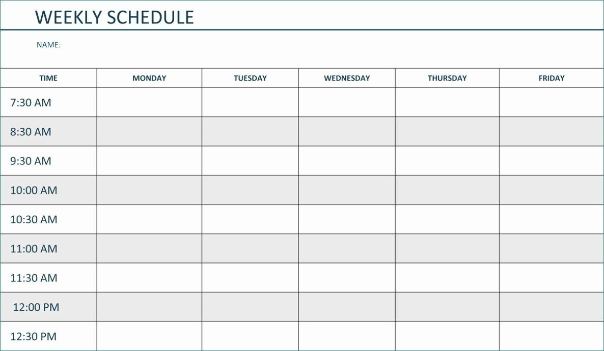 Collect Mon Friday Hourly Schedule