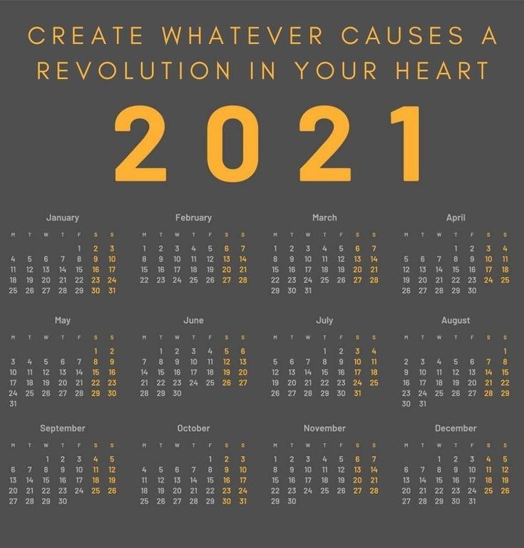 Collect Motivational Calendar Template 2021