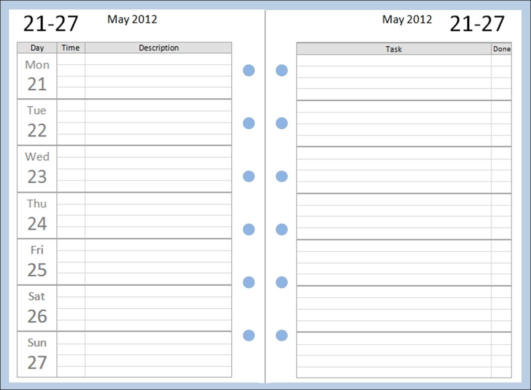 Collect Pocket Printacble Calendar