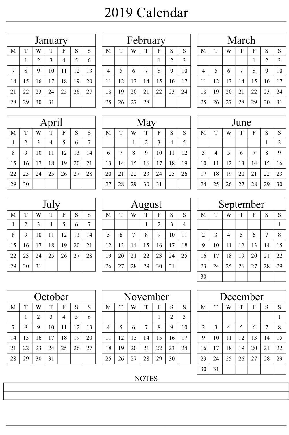 Collect Print Julian Week Calendar