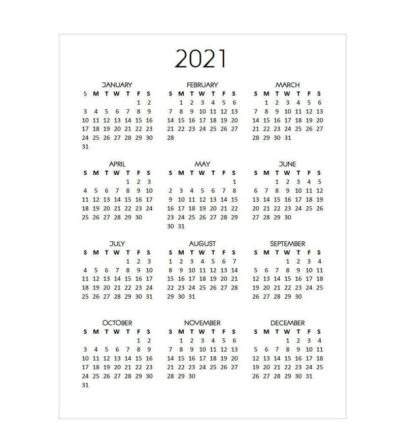 Collect Print Month In A Glance December 2021