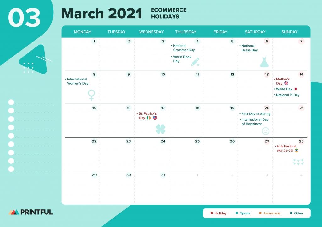 Collect Printable National Days Calendar 2021