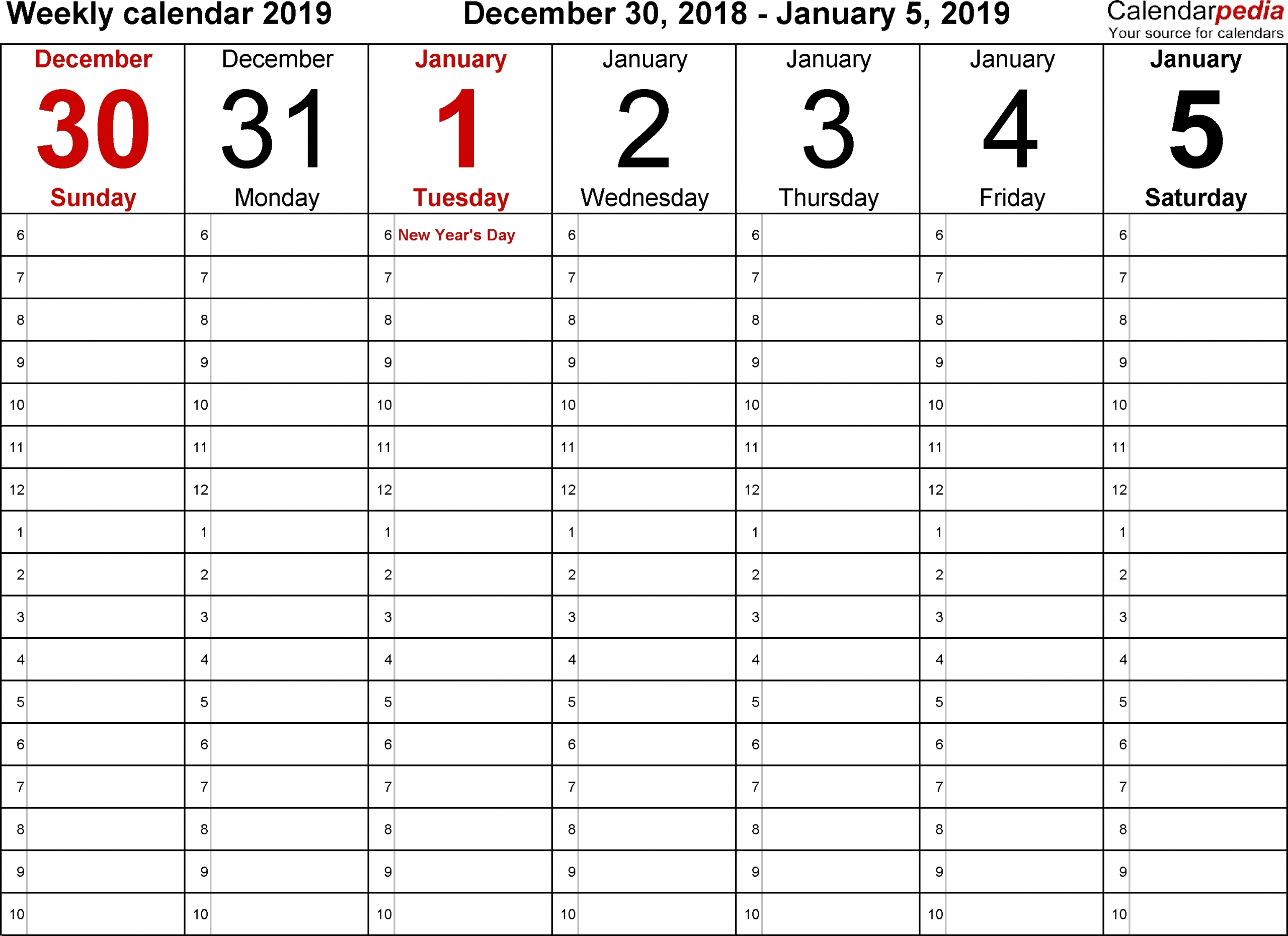 Collect Printable Schedule With Time Slots
