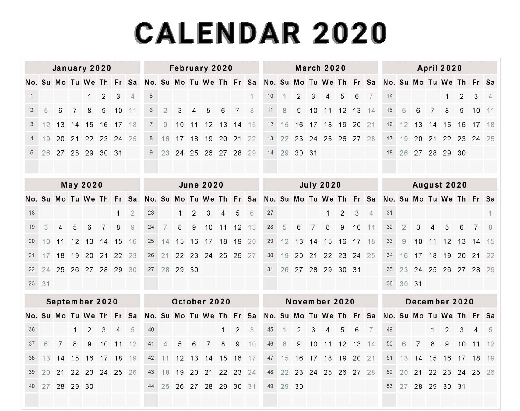 Collect Week Wise 2021 Calendar