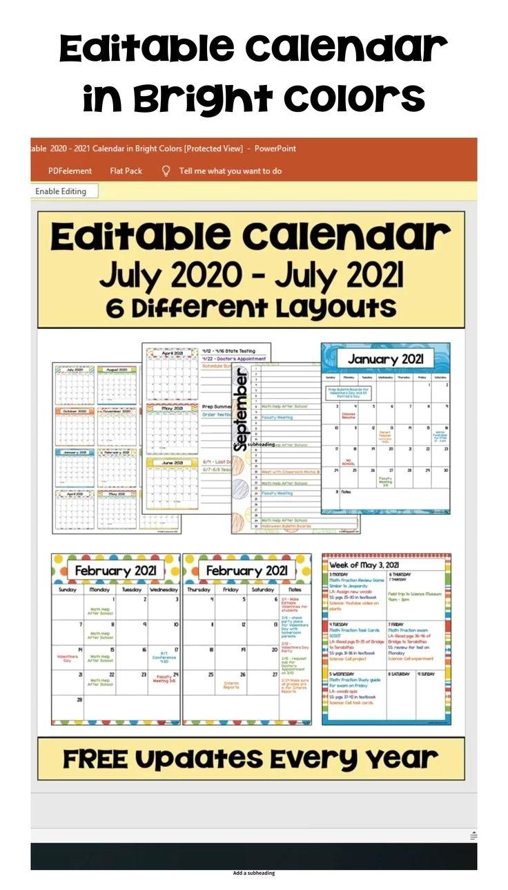 Get 2021 Calendar To Writ On