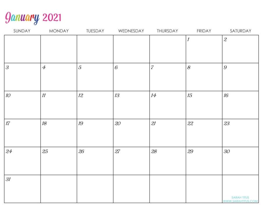 Get 2021 Free Printable Weekly Calendar Template
