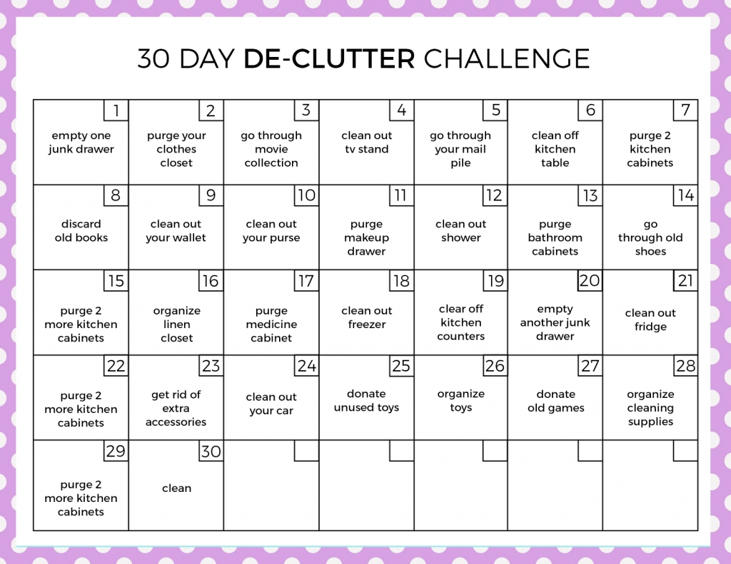 Get 30 Day Calendar Print Out