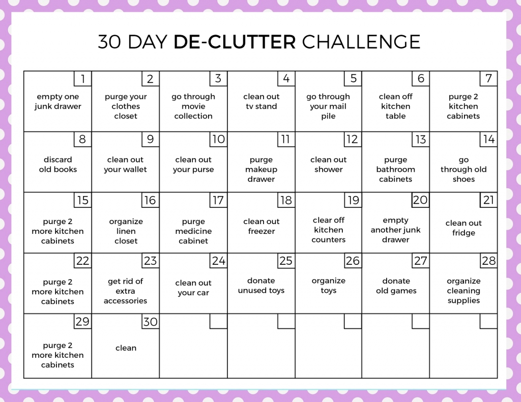 Get 30 Day Printable Calendar